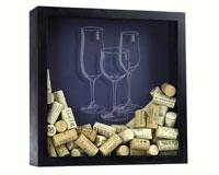 Shadow Box Wine Glass - Cork Holder-BCSHADOWBOXWGCB