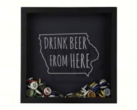 Shadow Box Iowa - Beer Cap Trap-BCTSHADBOXTYPIA