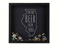 Shadow Box Illinois - Beer Cap Trap-BCTSHADBOXTYPIL