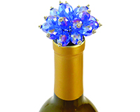 Glass Blue Bouquet - Bottle Stopper-ABSBLUEBOUQUET