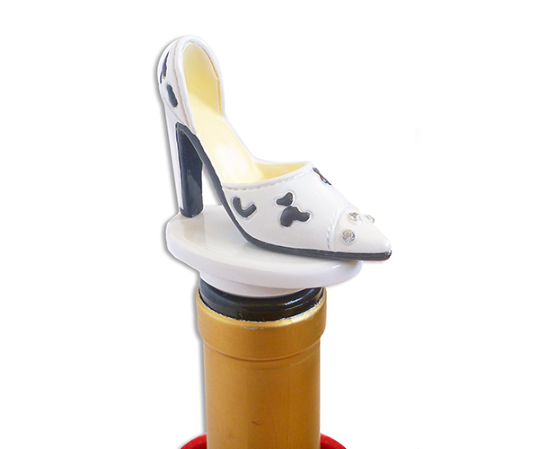 ABS White Heels - Bottle Stoppers