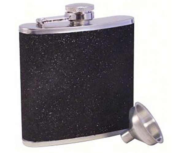 Glitter Black Stainless Steel Flask