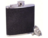 Glitter Black Stainless Steel Flask-AF6GLITTERBLACK