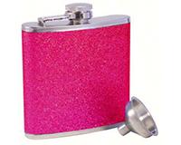 Glitter Pink Stainless Steel Flask-AF6GLITTERPINK