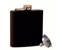 Grippy Black Stainless Steel Flask-AF6GRIPPYBLACK