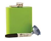 Grippy Lime Stainless Steel Flask-AF6GRIPPYLIME