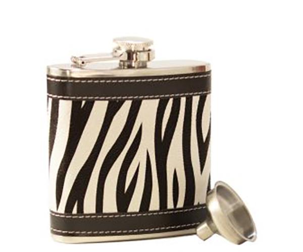 AF6 Zebra Stainless Steel Flask AF6ZEBRA'