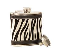 AF6 Zebra Stainless Steel Flask-AF6ZEBRA