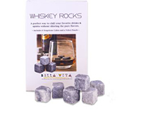 6 Soapstone Cubes with velvet pouch in each box-AI6ROCKS