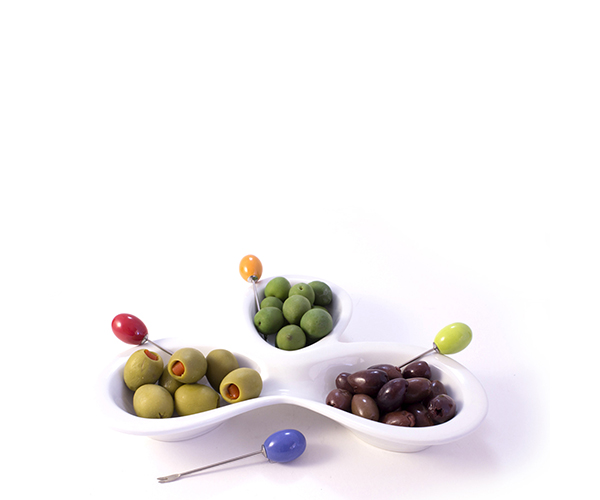 AK Olive Trio - Sets of Serving Bowls with Picks AKOLIVETRIO