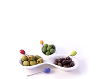 Olive Trio - Sets of Serving Bowls with Picks-AKOLIVETRIO