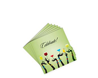 Cocktail Napkins - Celebrate - Green (20 per pack)-AN-GCELEBRATE