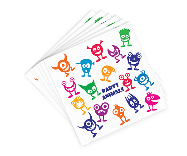 AN-W Party Animals - Decorative Napkin Sets AN-WPARTYANIMAL'