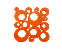 AWC Orange Bubbles - Wine Coaster Sets AWCORANGEBUBBLE