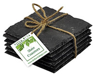 AWC Slate - Sets of Slate Coasters with Chalk AWCSLATE