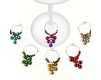 AWM Grapes Wine Glass Charms (Set of 6)-AWMGRAPES