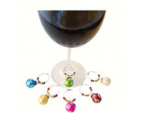 Ornament Wine Charms (6 per box)-AWMWHITESWIRL