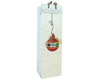 Handmade Paper Wine Bottle Bag - Christmas Ornament-BB1BAUBLE