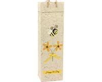 BB1 Bee Day - Handmade Paper Wine Bags BB1BEEDAY