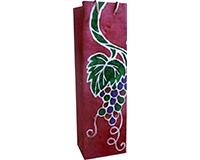 BB1 Burgundy Batik - Handmade Paper Bottle Bags BB1BURGUNDYBATI