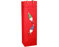 Holiday BB1 Elves - Handmade Paper Single Bottle Bags BB1ELVES