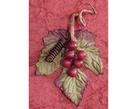Handmade Paper Wine Bottle Bag - 3D Grape Cluster-BB1GLBURGUNDY