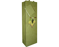 Handmade Paper Wine Bottle Bag - 3D Grape Cluster-BB1GLOLIVE