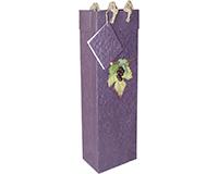 BB1 GL Violet - Handmade Paper Bottle Bags BB1GLVIOLET