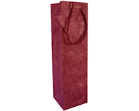 Handmade Paper Wine Bottle Bag - Burgandy-BB1GTBURGUNDY