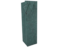 Handmade Paper Wine Bottle Bag - Green-BB1GTGREEN