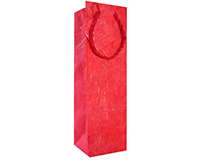 Handmade Paper Wine Bottle Bag - Red-BB1GTRED