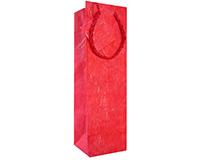 BB1 GT Red - Handmade Paper Bottle Bags BB1GTRED