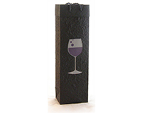 Handmade Paper Wine Bottle Bottle Bag - Merlot-BB1MERLOT