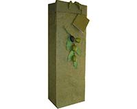 BB1 Olive Branch - Handmade Paper Bottle Bags BB1OLIVEBRANCH