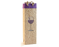 Handmade Paper Wine Bottle Bag  - Pinot-BB1PINOT