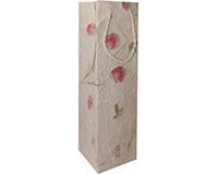 BB1 Pressed Flowers - Handmade Paper Bottle Bags BB1PRESSEDFLOWE