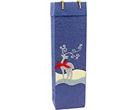 Handmade Paper Wine Bottle Bag - Reindeer-BB1REINDEER