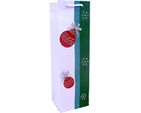 Holiday BB1 Sparkle - Handmade Paper Single Bottle Bags BB1SPARKLE