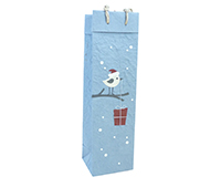 Holiday BB1 Tweet - Handmade Paper Single Bottle Bags BB1TWEET