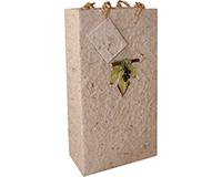2 Bottle Handmade Paper Wine Bottle Bag  - Natural-BB2GLNATURAL