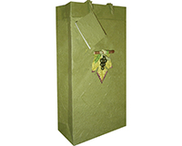 BB2 GL Olive - Handmade Paper Two Bottle Bags BB2GLOLIVE