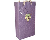 2 Bottle Handmade Paper Wine Bottle Bag  - Violet-BB2GLVIOLET