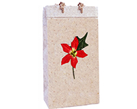Holiday BB2 Poinsettia Red - Handmade Paper Two Bottle Bags-BB2POINSETTIARE