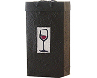 BB2 Red Wine - Handmade Paper Two Bottle Bags BB2REDWINE