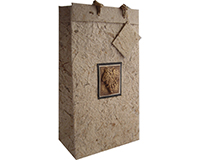 BB2 Tuscany Natural - Handmade Paper Bottle Bags BB2TUSCANYNATUR