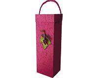 Box1 GC Burgundy - Handmade Paper Bottle Box BOX1GCBURGUNDY