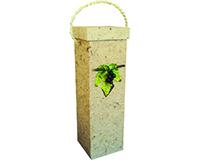 Box1 GL Natural - Handmade Paper Bottle Box BOX1GLNATURAL