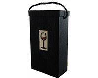 Box2 Red Wine - Handmade Paper Two Bottle Box BOX2REDWINE