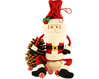Plush Wine Bottle Bag - Sitting Santa-CFSITTINGSANTA