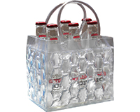 Chill It - 6 Bottle Insulated Bottle Bag - Clear-CHILLIT6CLEAR